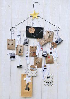 Clothes Hanger Advent Calendar