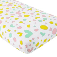Pattern Party Crib Fitted Sheet  | The Land of Nod