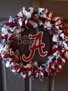 Alabama Crimson Tide Rag Wreath
