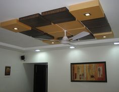 Interior, Brown Dark And Bright Fan Ceilling Dining Room False Ceiling Designs…