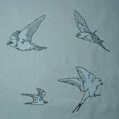 Schwalben Stickdesign auf www.gabrielles-embroidery.com