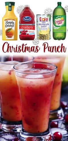 Non Alcoholic Christmas Punch, Holiday Drinks, Fun Drinks, Yummy Drinks, Holiday Recipes, Yummy Food, Holiday Parties, Beverages, Recipes Dinner