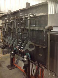 Clamp/tool rack. Spacing formula
