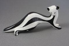 RESERVED FOR MARTA Cmielow Chodziez Weasel Figurine Made in Poland