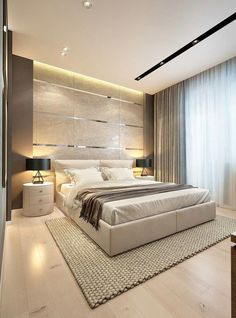 40 Incredible Modern Bedroom Design Ideas That Will Be Relax Place Modern Luxury Bedroom, Luxury Bedroom Design, Modern Master Bedroom, Bedroom Bed Design, Bedroom Furniture Design, Trendy Bedroom, Luxury Interior Design, Minimalist Bedroom, Contemporary Bedroom