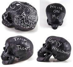 Chalkboard Skull, Chalk Board Prop, Chalkboard Decor, Halloween Art, Anatomy Decor, Medical Model on Etsy, $28.74 AUD