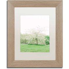 Trademark Fine Art 'White Cherry Blossom Tree' Canvas Art by Ariane Moshayedi, White Matte, Birch Frame, Size: 11 x 14, Multicolor