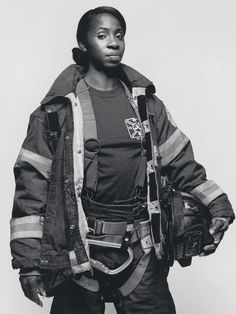 Tracy Lewis, firefighter.  Of the roughly 11,500 firefighters in New York City, only 31 are women.