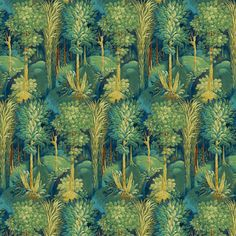 Maximalism takes a new direction in Journey Beyond. The adventure unfolds through five printed velvets featuring restored archive artwork, tropical vistas, prowling tigers and distressed damask motifs. How To Make Curtains, Made To Measure Curtains, Curtains For Sale, Blue Floral Curtains, Floral Fabric, Tropical Fabric, Forbidden Forest, Lisa, Prestigious Textiles