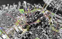 Central Artery Corridor Master Plan Downtown Boston, Master Plan, Corridor, City Photo, The Neighbourhood, How To Plan, The Neighborhood, Architecture Layout
