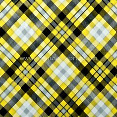 Diagonal Yellow Plaid Made to Order