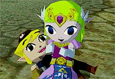 One of my favorite parts from Spirit Tracks!  I like Zelda in this game.  She's not afraid to show her hero affection.
