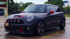 Mini Cooper, Black & Red, Rally Lights, Bumper Cover Intake