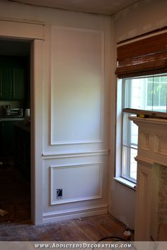 Full wall picture frame mouldingl - How to install picture frame moulding wainscoting - addicted2decorating.com