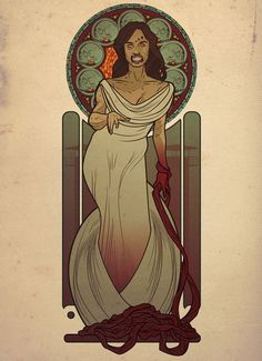 Ladies of 'The Walking Dead' Go Art Nouveau in Fan Art (Part 1) | moviepilot.com