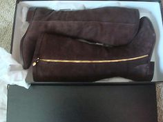 NWT J. Crew Women's Harper suede boots with extended calf 7.5 Brown