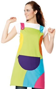 € 36,30 - Estola Multicolor Corchetes Pistacho - 4002 Apron Designs, Sewing Aprons, Scrub Tops, Sweet Girls, Work Wear, Sewing Patterns, Dress Up, Female, Lady