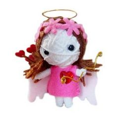 String Voodoo Doll Keychain Goddess of Love Valentine Series From Thailand Free Shipping