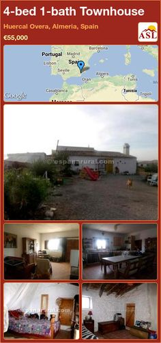 4-bed 1-bath Townhouse in Huercal Overa, Almeria, Spain ►€55,000 #PropertyForSaleInSpain
