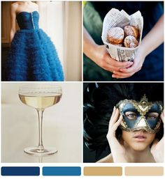 A favorite color combination - bayou blue + champagne