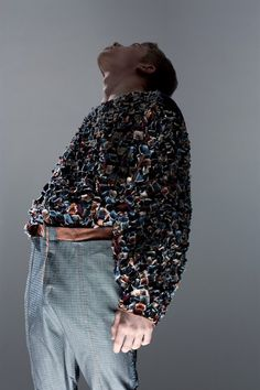 Menswear outfit, embroidery