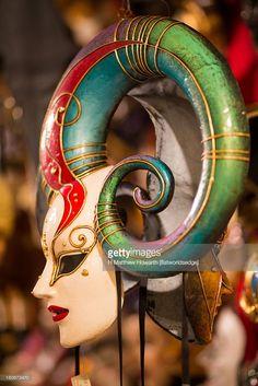 Foto stock : Harlequin carnival mask, Venice