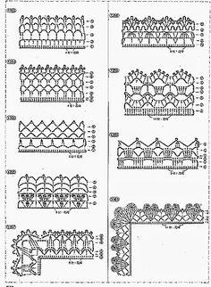 20 Fantastiche Immagini Su Bordi Uncinetto Yarns Crochet Lace E