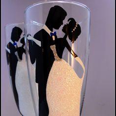 Champagne wedding set