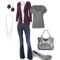 Plum & grey are a great color combo.