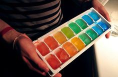 Colorful Ice... Just add food coloring!