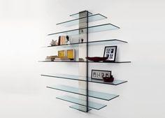 Mondovisione Glass Wall Unit | Glass Furniture | Tonelli Design