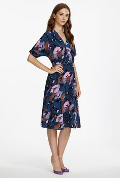 Pretty dark floral with fabo shoes
