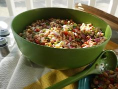 """Gullah Caviar (Picnic in the Park) – Kardea Brown, """"Delicious Miss Brown"""" on the Food Network. Gullah Caviar (Picnic in Black Eyed Pea Salad, Black Eyed Peas, Food Network Recipes, Cooking Recipes, Healthy Recipes, Veggie Recipes, Bean Recipes, Chef Recipes, Kitchen Recipes"""