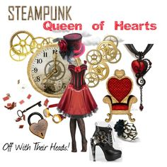 """Steampunk Queen of Hearts"" by pam-kyle-mcglaughlin on Polyvore"