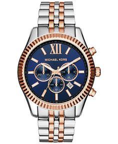 Michael Kors Men's Chronograph Lexington Two-Tone Stainless Steel Bracelet Watch 45mm MK8412 - Michael Kors - Jewelry & Watches - Macy's