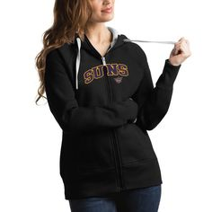 Phoenix Suns Antigua Women's Victory Full Zip Hoodie - Black