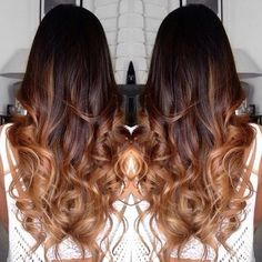 dark brown hair with caramel ombre straight hair - Google Search