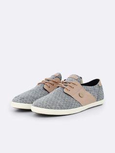acfa57387 TENNIS CYPRESS en coton marine matelasse et cuir poudre Sapatos De Barco,  Tênis, Couro