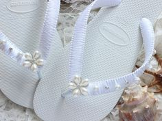Items similar to Brazilian bridal flip flops gift for her. Bride flat beach wedding sandals shower, party, honeymoon, dancing shoes on Etsy Bridal Shower Punch, Bridal Shower Rustic, Shower Party, Bride Flats, Small Bridal Parties, Kate Spade Bridal, Beach Wedding Sandals, Wedding Flip Flops, Bride Shower