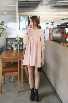 nice Wrinkle Cute Dress by http://www.globalfashionista.xyz/korean-fashion-styles/wrinkle-cute-dress/