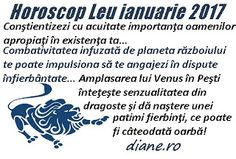 Horoscop ianuarie 2017 Leu Astrology