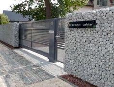 55 Fabulous Gabion Fence Design for Garden Landscaping Ideas - Insidexterior - Front Yard Landscaping - Backyard Fences, Garden Fencing, Garden Landscaping, Landscaping Ideas, Gabion Wall, Gabion Fence Ideas, Gabion Box, Pallet Fence, Front Yard Fence