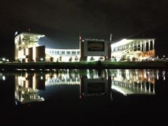 McLane Stadium at night. #GemOnTheBrazos