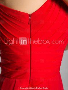 Vestido de Noite Comprido em Chifon (Um Ombro, 551342) - USD $ 178.19