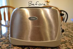 clean stainless steel toaster