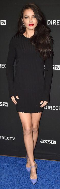 Adriana Lima: Dress – Elizabeth and James  Shoes – Christian Louboutin