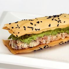 Mille-feuilles With Smoked Salmon Mousse and Le Cabrouet -