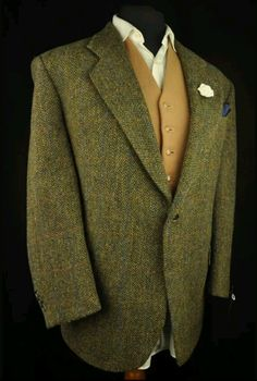 Harris Tweed herringbone and hint of windowpane