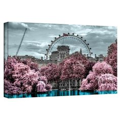 'London II' by Revolver Ocelot Graphic Art on Wrapped Canvas