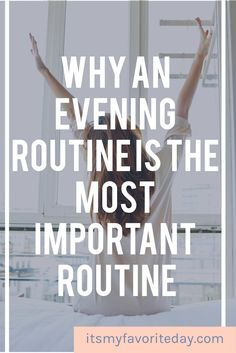 what you do in the evening has a big impact on how your morning goes. In fact, I am convinced that an evening routine is the most important routine you should establish. After all, it literally can set the tone for how your entire day goes. How To Be More Organized, How To Get Motivated, Declutter Your Mind, Organize Your Life, Finding Motivation, Evening Routine, How To Stop Procrastinating, Practice Gratitude, Time Management Tips